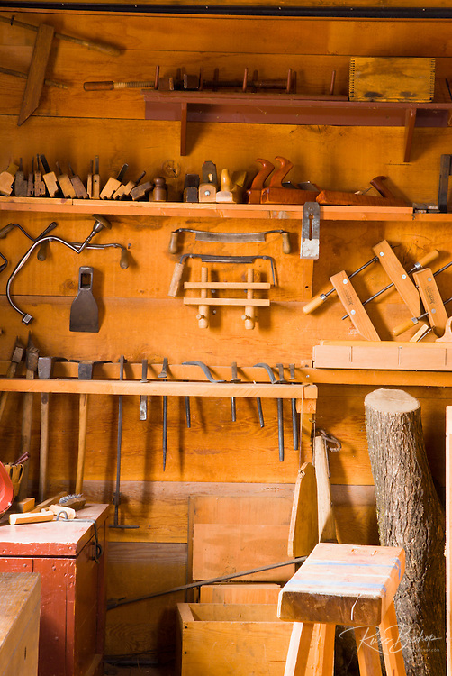 Tools in the carpenter shop, Fort Vancouver National Historic Site, Vancouver, Washington
