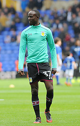 Albert Adomah of Aston Villa warms up -Mandatory by line: Nizaam Jones/JMP - 29/10/2017 - FOOTBALL - St Andrew's Stadium - Birmingham, England - Birmingham City v Aston Villa - Sky Bet Championship