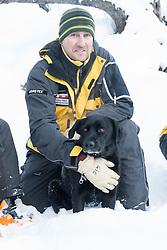 29. April 2014 PDG 2014<br /> Patrouille des Glacier 2014 Arolla<br /> Aufbau PDG, Lawinenhunde