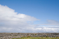 Stone walls on Inis Oirr Island the Aran Islands County Galway Ireland
