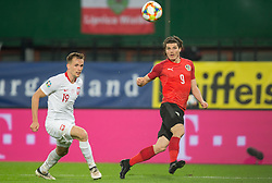 March 21, 2019 - Vienna, Austria - Tomasz Kedziora of Poland and Marcel Sabitzer of Austra during the UEFA European Qualifiers 2020 match between Austria and Poland at Ernst Happel Stadium in Vienna, Austria on March 21, 2019. (Credit Image: © Foto Olimpik/NurPhoto via ZUMA Press)