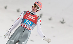 06.01.2016, Paul Ausserleitner Schanze, Bischofshofen, AUT, FIS Weltcup Ski Sprung, Vierschanzentournee, Bischofshofen, Finale, im Bild Severin Freund (GER) // Severin Freund of Germany reacts after his 1st round jump of the Four Hills Tournament of FIS Ski Jumping World Cup at the Paul Ausserleitner Schanze in Bischofshofen, Austria on 2016/01/06. EXPA Pictures © 2016, PhotoCredit: EXPA/ JFK
