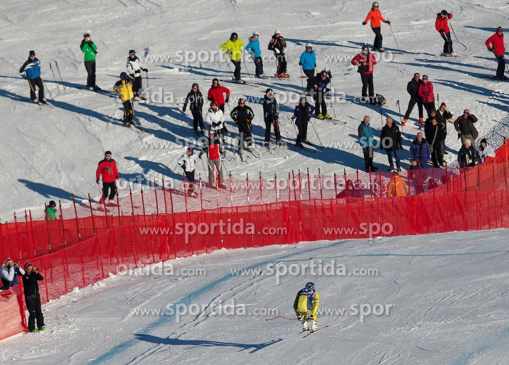 18.01.2012, Hahnenkamm, Kitzbuehel, AUT, FIS Weltcup Ski Alpin, 72. Hahnenkammrennen, Herren, Abfahrt 2. Training, im Bild Aksel Lund Svindal (NOR) // Aksel Lund Svindal of Norway during Downhill 2nd practice of 72th Hahnenkammrace of FIS Ski Alpine World Cup at 'Streif' course in Kitzbuhel, Austria on 2012/01/18. EXPA Pictures © 2012, PhotoCredit: EXPA/ Johann Groder