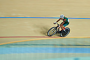 Ashgabat, Turkmenistan - 2017 September 23: Yhlas Owezmyradov from Turkmenistan  competes in Men's Omnium Scratch Final while Track Cycling competition during 2017 Ashgabat 5th Asian Indoor &amp; Martial Arts Games at Velodrome (VEL) at Ashgabat Olympic Complex on September 23, 2017 in Ashgabat, Turkmenistan.<br /> <br /> Photo by &copy; Adam Nurkiewicz / Laurel Photo Services