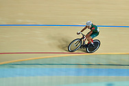 Ashgabat, Turkmenistan - 2017 September 23: Yhlas Owezmyradov from Turkmenistan  competes in Men's Omnium Scratch Final while Track Cycling competition during 2017 Ashgabat 5th Asian Indoor & Martial Arts Games at Velodrome (VEL) at Ashgabat Olympic Complex on September 23, 2017 in Ashgabat, Turkmenistan.<br /> <br /> Photo by © Adam Nurkiewicz / Laurel Photo Services