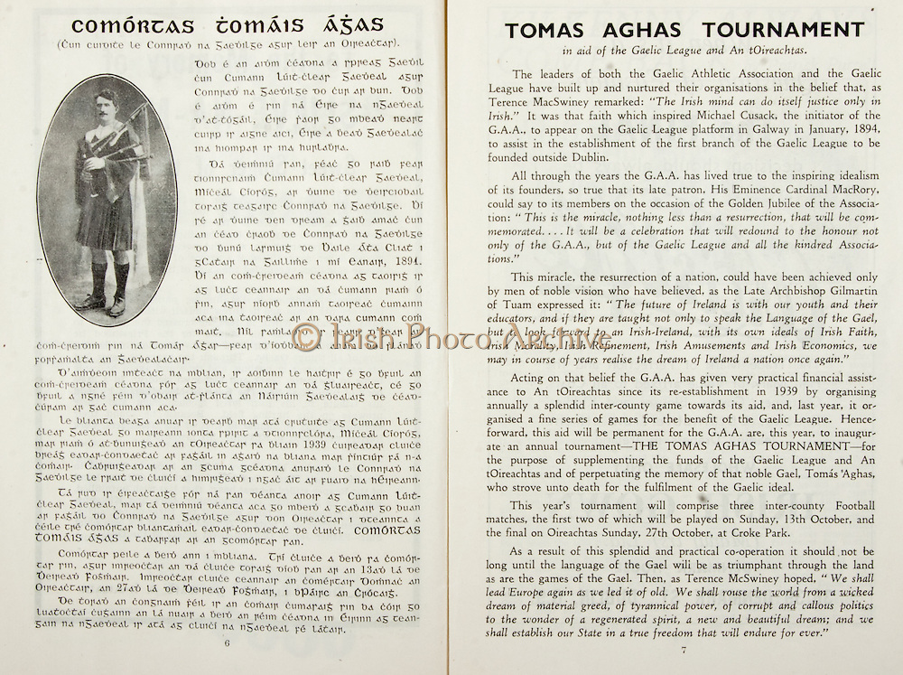 All Ireland Senior Hurling Championship Final,.Brochures,.01.09.1946, 09.01.1946, 1st September 1946, .Cork 7-5, Kilkenny 3-8, .Minor Dublin v Tipperary.Senior Cork v Kilkenny.Croke Park, ..Articles, Thomas Aghas Tournament,