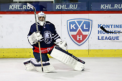 Gasper Kroselj of KHL Medvescak Zagreb before KHL League ice hockey match between KHL Medvescak Zagreb and CSKA Moscow, on November 16, 2015 in Dvorana Sportova, Zagreb, Croatia. (Photo By Matic Klansek Velej / Sportida)
