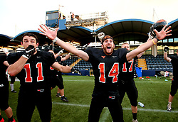 Tamworth Phoenix celebrate winning the BAFA Britbowl National League Final and becoming champions for 2017 - Mandatory by-line: Robbie Stephenson/JMP - 26/08/2017 - AMERICAN FOOTBALL - Sixways Stadium - Worcester, England - Tamworth Phoenix v London Blitz - BAFA Britbowl National League Finals 2017