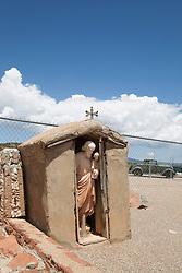 Cemetery memorial at San Vicente De Paul Iglesia Catolica Church established in 1878 Punta De Agua, New Mexico