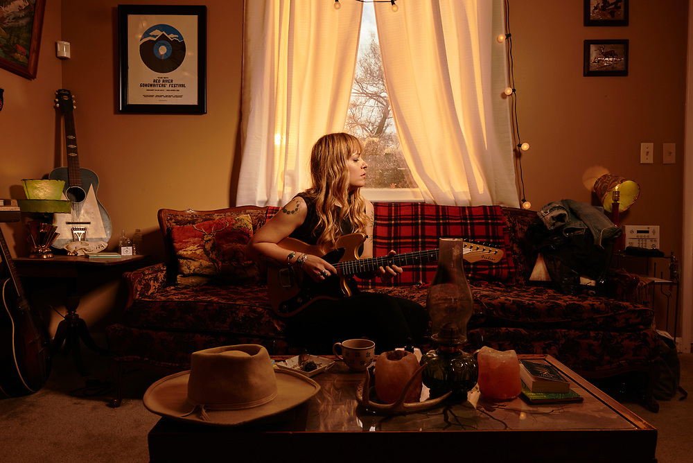 Musician Brandy Zdan at her home in Nashville