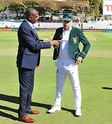 Cape Town-180322 Proteas captain Faf du Plessie wins a toss and chose to bat first in the 3rd test of the Sunfoil cricket test against Australia at Newlands cricket stadium..Photograph:Phando Jikelo/African News Agency/ANA