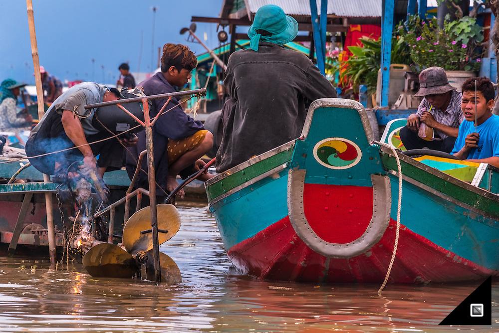 Cambodia - Tonle Sap, Kompong Luong