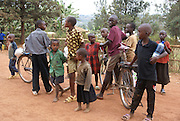Rwanda, Kigali a group of local children