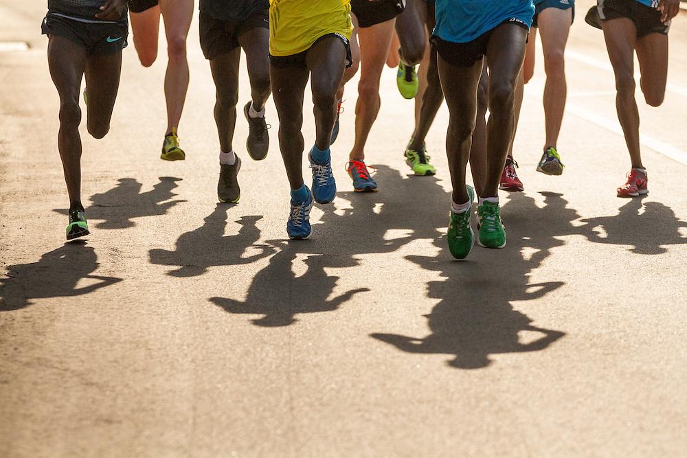 BAA 5K, legs of elite runners