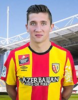 Mathias AUTRET - 30.10.2015 - Portrait Officiel - Lens<br /> Photo : RC Lens / Icon Sport