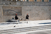 Changing the guards ceremony, Parliament building,  Syntagma Square, Athens, Greece
