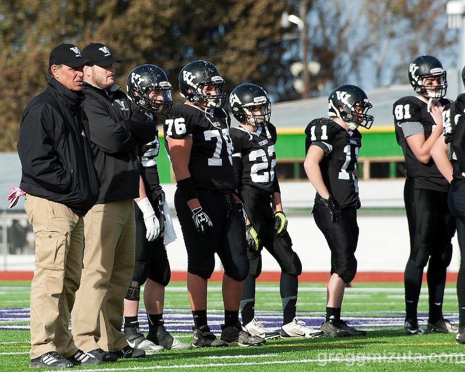 Oregon 3A Semifinals, Vale vs Blanchet Catholic at Kennison Field, Hermiston, Oregon. November 22, 2014.
