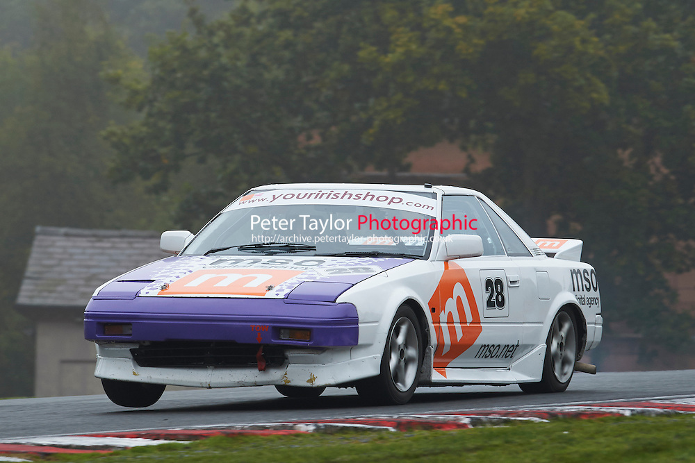 #28 Paul LAWRIE Toyota MR2 Mk1 during Nippon Challenge / Youririshshop.com MR2 Racing Series - Qualifying  as part of the BARC Championships Race Day at Oulton Park, Little Budworth, Cheshire, United Kingdom. October 03 2015. World Copyright Taylor/PSP. Copy of publication required for printed pictures.  Every used picture is fee-liable. http://archive.petertaylor-photographic.co.uk