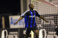 Fotball<br /> Belgia 2003/2004<br /> Foto: Digitalsport<br /> Norway Only<br /> <br /> ANTWERPEN, 30/08/2003<br /> FC ANTWERP - CLUB BRUGGE / RFC ANTWERP - CLUB BRUGGE FC /<br /> ANDRES MENDOZA