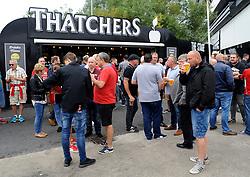 Fans arrive at the stadium ahead of kick-off - Mandatory by-line: Nizaam Jones/JMP- 18/08/2018 - FOOTBALL - Ashton Gate Stadium - Bristol, England - Bristol City v Middlesbrough - Sky Bet Championship