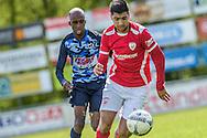 23-04-2016: Voetbal: Sportlust'46 v Zwaluwen: Woerden<br /> <br /> (L-R) Marcelo Gomes da Veiga van vv Zwaluwen, Sercan Kurdal van Sportlust '46<br /> <br /> Foto: Gertjan Kooij