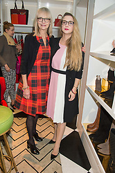 Left to right, JAN DE VILLENEUVE and DAISY DE VILLENEUVE at the launch of Daisy & Jan de Villeneuve's new book 'All in Good Taste' held at Kate Spade New York, 1-3 Langley Court, Covent Garden, London on 2nd November 2015.