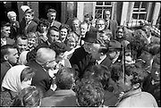 16/06/1963.06/16/1963.16 June 1963.Hendrick Street houses evacuated. Conor Doyle, P.P. Arran Quay and irate occupants discuss alternative accommodation with T.D.s  Major Vivian de Valera and Councillor M. Mullen T.D.