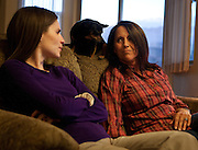 Ellen Hensley, right, mother of the slain Jerrica Christensen, speaks with her daughter, Kimberly Millsap, about the family's painful ordeal and legal battles in her Leeds home, Thursday, Dec. 6, 2012.