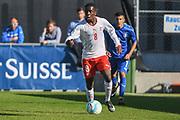 21.09.2017; Niederhasli; FUSSBALL U16 - Schweiz - Italien;<br /> Samuel Kasongo (SUI) <br /> (Andy Mueller/freshfocus)