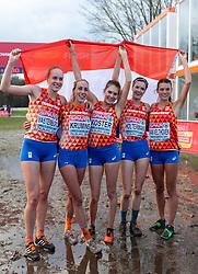 09-12-2018 NED: SPAR European Cross Country Championships, Tilburg<br /> Jip Vastenburg NED, Maureen Koster NED, Jill Holterman NED, Susan Krumins NED, Julia van Velthoven NED