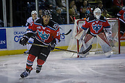 KELOWNA, CANADA - OCTOBER 14:  Devante Stephens #21 of Kelowna Rockets, Brodan Salmond #31 of Kelowna Rockets at the Kelowna Rockets game on October 14, 2016 at Prospera Place in Kelowna, British Columbia, Canada.  (Photo By Cindy Rogers/Nyasa Photography,  *** Local Caption ***