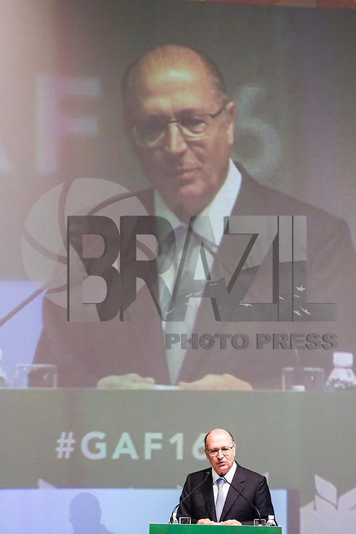 SÃO PAULO, SP, 04.07.2016 - TEMER-SP - O governador de São Paulo Geraldo Alckmin durante abertura do Global Agribusiness Forum - GAF16 no Hotel Grand Hyatt na região sul de São Paulo nesta segunda-feira, 04.   (Foto: Vanessa Carvalho/Brazil Photo Press)