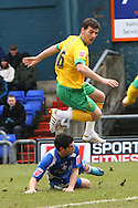 Oldham - Saturday February 26th, 2010 :  Chris Martin in action during the Coca Cola League One match at Boundary Park, Oldham. (Pic by Paul Chesterton/Focus Images)..