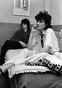 Siouxsie Sioux relax at the hotel befor the concert - 1979
