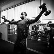 """UVU Men's Basketball players go through their daily routines for the 50 days """"All In"""" campaign on the campus of Utah Valley  University in Orem, Utah on Friday Sept. 16 2016. (August Miller, UVU Marketing)"""