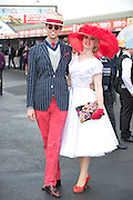 01/08/2013   Mark Flood Kildare and  Danielle Gingell Mayo  at the Anthony Ryan's Best Dressed on Ladies day at the Galway Races . Picture:Andrew Downes