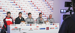 09.02.2018, Austria House, Pyeongchang, KOR, PyeongChang 2018, Pressekonferenz, im Bild Reichelt, Franz, Mayer, Kriechmayer und Tr. Puelacher // Reichelt, Franz, Mayer, Kriechmayer und Tr. Puelacher during a Pressconference of the Austrian Olympic Team in the Austria House in Pyeongchang, South Korea on 2018/02/09. EXPA Pictures © 2018, PhotoCredit: EXPA/ Erich Spiess
