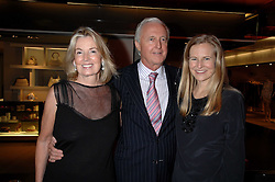 Left to right, GALEN & HILARY WESTON and their daughter ALANNAH WESTON at a party to celebrate the launch of Holly Peterson's debut novel 'The manny' held at Selfridges, Oxford Street, London on 26th February 2007.<br />
