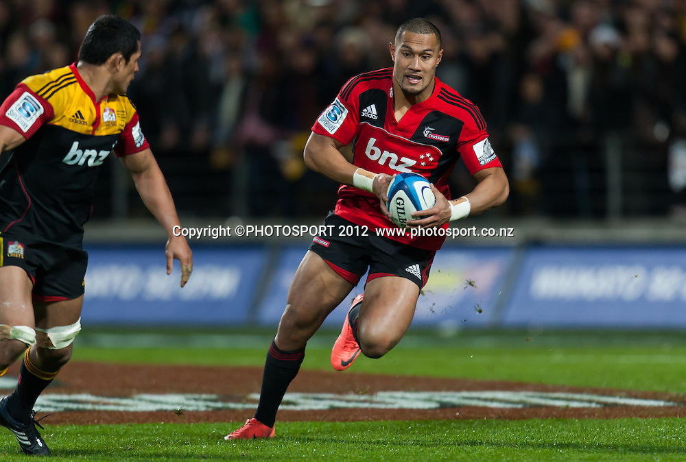 Crusaders' Robbie Fruean during the Super Rugby Semi Final won by the Chiefs (20-17) against the Crusaders at Waikato Stadium, Hamilton, New Zealand, Friday 27 July 2012. Photo: Stephen Barker/Photosport.co.nz