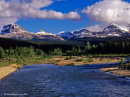 The Belly River in Waterton Lakes National Park in Alberta Canada