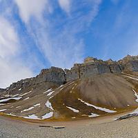 Alberto Carrera, Arctic Lands, Cliffs of Skansen, Skansbukta, Billefjord, Arctic, Spitsbergen, Svalbard, Norway, Europe