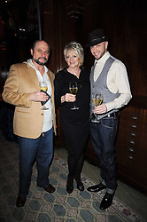 Left to right, ? FRIEDMAN and JUDITH FREIDMAN and their son BRIAN FRIEDMAN the X Factor choreographer at the launch of Grosvenor Shirts luxury collection to celebrate the 2010 FIFA World Cup in South Africa held at 88 St.James's Street, London SW1 on 8th December 2009.