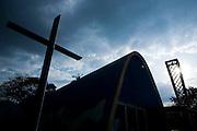 Belo Horizonte_MG, Brasil...Igreja Sao Francisco de Assis, projeto arquitetonico de Oscar Niemeyer na  Pampulha...Sao Francisco of Assis church, Oscar Niemeyer project in Pampulha...Fotos: BRUNO MAGALHAES / NITRO