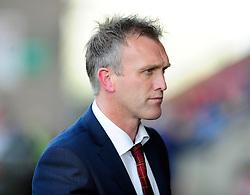 Crewe Alexandra Manager, Steve Davis - Photo mandatory by-line: Dougie Allward/JMP - Tel: Mobile: 07966 386802 19/10/2013 - SPORT - FOOTBALL - Alexandra Stadium - Crewe - Crewe V Bristol City - Sky Bet League One
