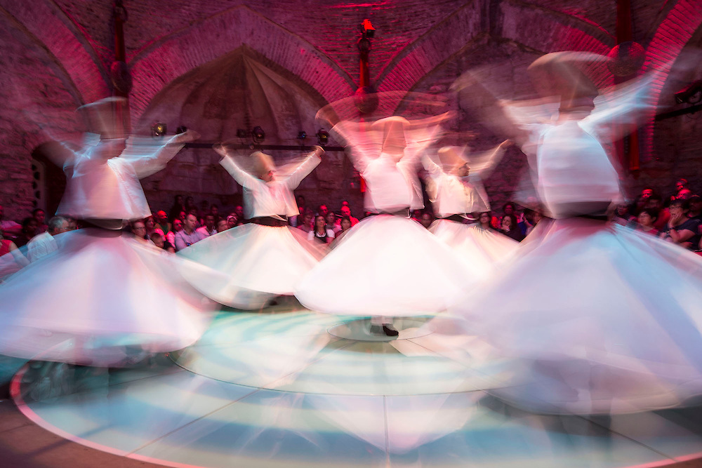 Istanbul Turkey Hodjapasha Culture Center Sema Ceremony Whirling Dervishes