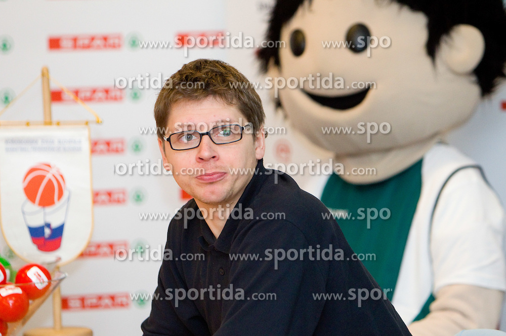 Tomaz Sinigajda of Elektra Sostanj at Spar Cup quarter-final draw, on January 11, 2011 in BTC, Ljubljana, Slovenia.  (Photo By Vid Ponikvar / Sportida.com)