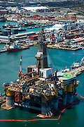 Oil Rig in for repair in Cape Town Port