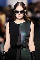 Alla Kostromichova walks down runway for F2012 Prabal Gurung's collection in Mercedes Benz fashion week in New York on Feb 10, 2012 NYC