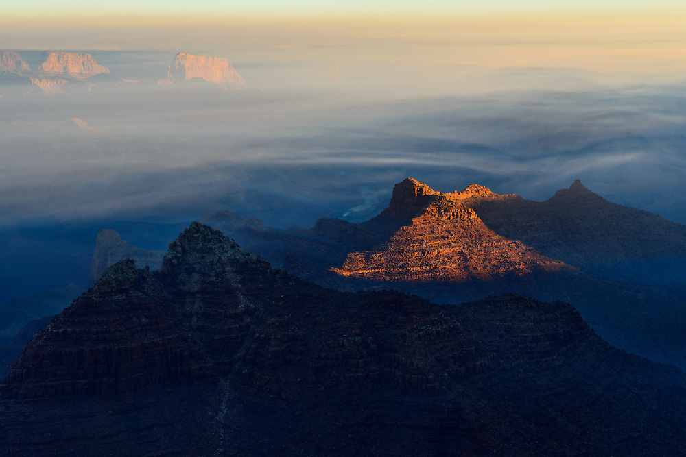 Smoke from wildfires lends an unique beauty to the Grand Canyon.