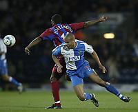 Fotball<br /> England 2004/2005<br /> Foto: SBI/Digitalsport<br /> NORWAY ONLY<br /> <br /> Blackburn Rovers v Crystal Palace<br /> FA Barclays Premiership<br /> 20/04/2005<br /> <br /> Blackburn's Steven Reid and Palace's Mikele Leigertwood